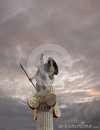 Free Athena Statue, The Goddess Of Wisdom And Philosophy Royalty Free Stock Photography - 49959377