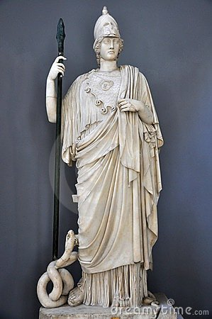 Athena statue in Vatican, Italy  Editorial Stock Image