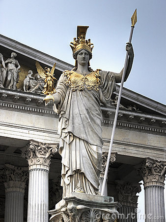 Free Athena Statue Vienna Hdr Stock Images - 9948944