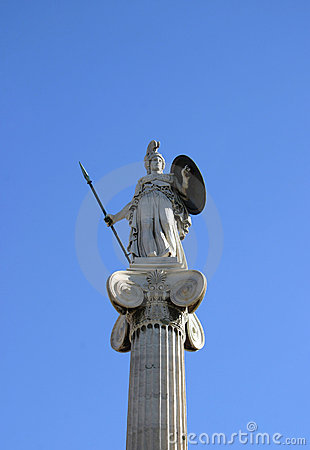 Athene on column