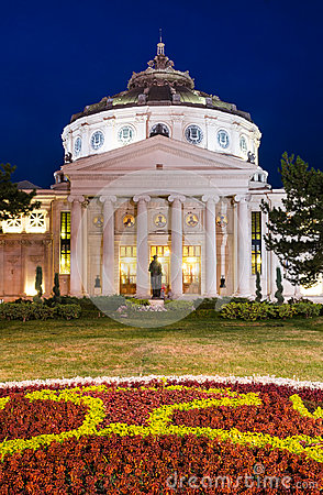 Atheneum, Bucharest, nightview