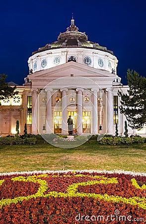 Atheneum, Bucharest, nightview
