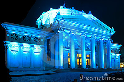 The Atheneum building in Bucharest, Romania.