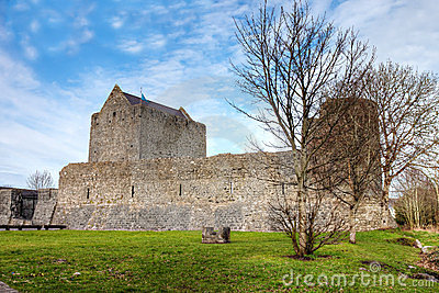 Athenry Castle at Autumn in Ireland.