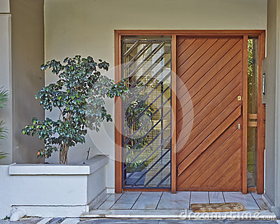 Athens greece house entrance stock photo image 42461842 for Solid wood door construction