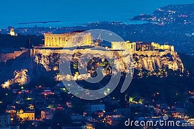 Athens at night