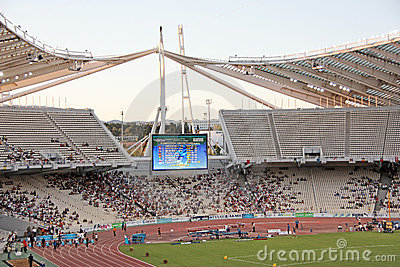 Athens Olympic Stadium During Event Editorial Stock Photo