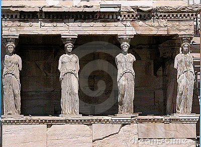 Porch of Caryatid, Athens parthenon