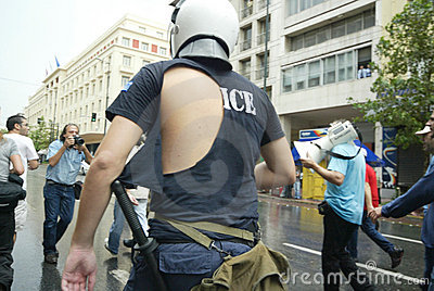 Athens Riots, students rally, 2006 Editorial Photo