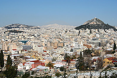 Athens in Winter