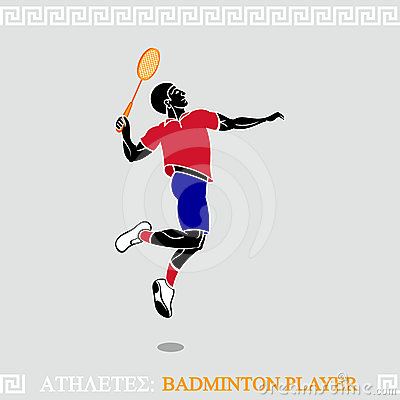 Athlete badminton player