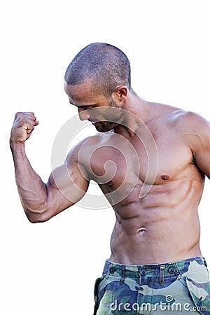 Athlete bicpes