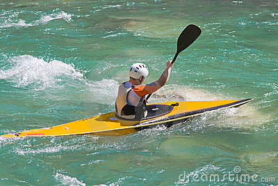 Athlete in a canoe