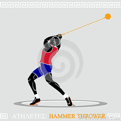 Free Athlete Hammer Thrower Stock Photography - 25809602