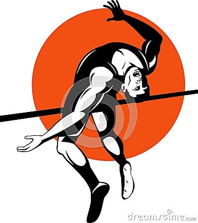 Athlete high jump