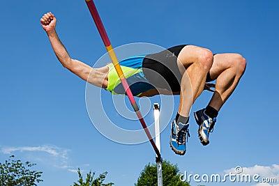 An athlete in high jump