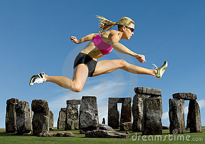 Athlete Jumps Over Stonehenge