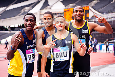 Athlete at London 2012 Olympic stadium Editorial Photo