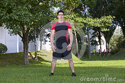 Athlete man at the park