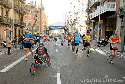Athlete with mobility disabilities Editorial Stock Image