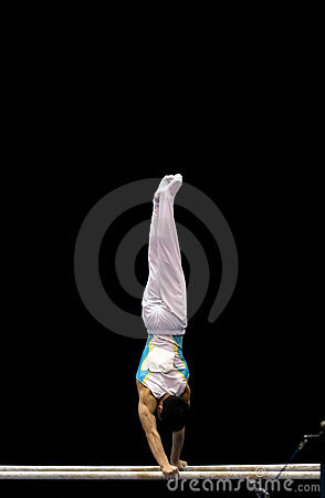 Athlete On Parallel Bars