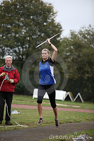 Athlete Pia Brinkert - thrower - Editorial Stock Photo