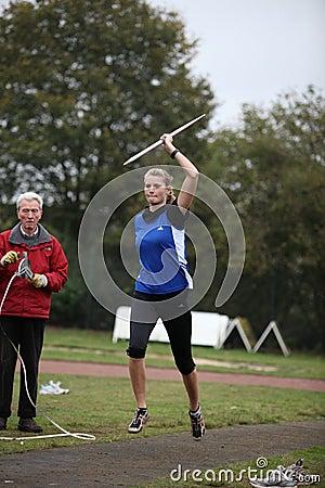 Athlete Pia Brinkert - thrower - Editorial Stock Photo