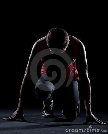Free Athlete Ready To Start Stock Images - 17704874