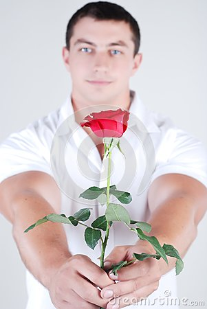 Athlete with rose