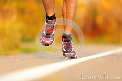 Athlete running shoes
