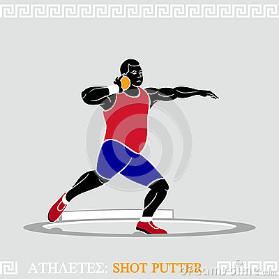Athlete Shot putter
