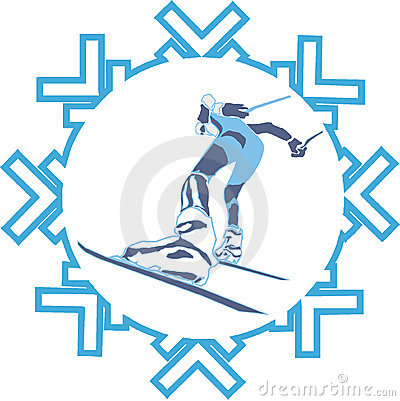 Athlete skiing