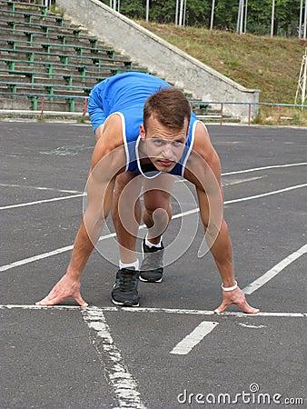 athlete in the stadium
