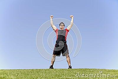 Athlete victory