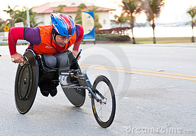 Athlete in wheelchair Editorial Photography