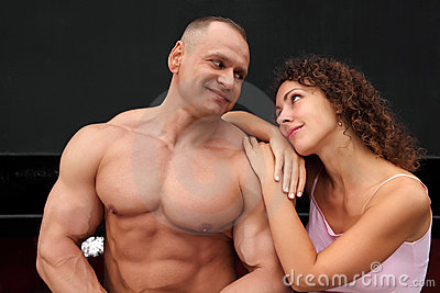 Athlete and young woman