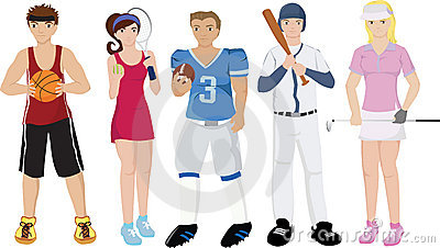 Athletes illustrations
