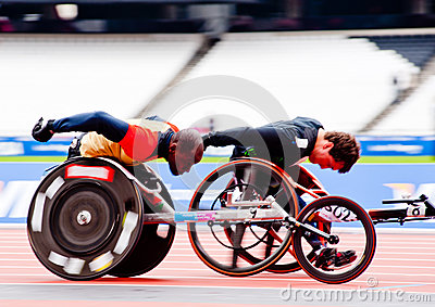 Athletes on wheelchairs racing Editorial Photography