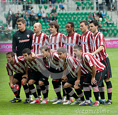 Athletic Bilbao group Editorial Stock Photo