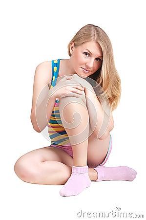 Athletic blonde girl