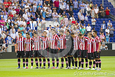 Athletic Club players Editorial Stock Image