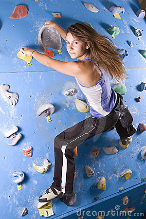 Athletic Girl Climbing Royalty Free Stock Image - Image: 15626636