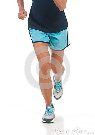 Athletic lady running