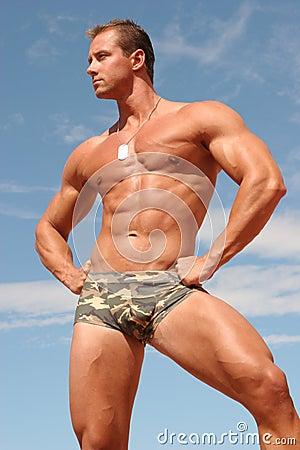 Free Athletic Man Royalty Free Stock Image - 1369656