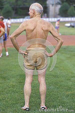 An athletic senior citizen, Editorial Image
