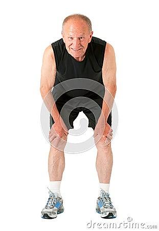 Athletic senior man
