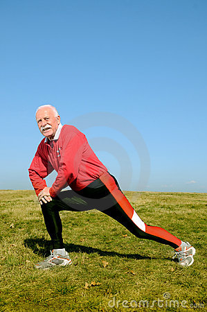 Athletic senior man
