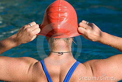 Athletic swimmer