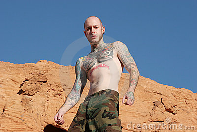 Athletic tattooed man