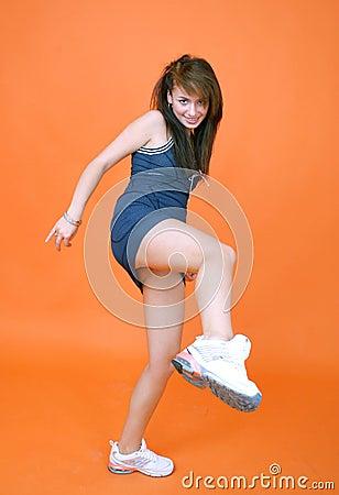 Athletic Woman Kick